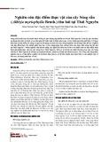 Nghiên cứu đặc điểm thực vật của cây Sóng rắn (Albizia myriophylla Benth.) thu hái tại Thái Nguyên