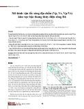 Mô hình vận tốc sóng địa chấn (Vp, Vs, Vp/Vs) khu vực bậc thang thủy điện sông Đà