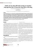 Nghiên cứu xây dựng điều kiện áp dụng các loại hình công nghệ khai thác vỉa than dày trung bình và dốc đứng