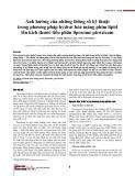 Ảnh hưởng của những thông số kỹ thuật trong phương pháp hydrat hóa màng phim lipid lên kích thước tiểu phân liposome piroxicam