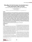 Nhân giống in vitro loài Nưa konjac (Amorphophallus konjac) ở Việt Nam để bảo tồn và phục vụ sản xuất