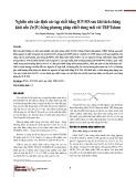 Nghiên cứu xác định các tạp chất bằng ICP-MS sau khi tách chúng khỏi nền Zr(IV) bằng phương pháp chiết dung môi với TBP/Toluen