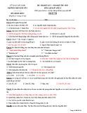 Đề thi HK2 môn Lịch sử lớp 11 năm 2017-2018 - THPT Quế Võ 1 - Mã đề 794