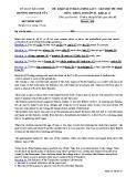 Đề KSCL môn tiếng Anh lớp 10 năm 2017-2018 lần 2 - THPT Quế Võ 1 - Mã đề 101