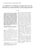 A comparison of shrinkage cracking between clay minerals by crack parameters using image analysis