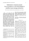 Substitution of peanut protein for soy protein as a non-meat binder in emulsion-type sausage production
