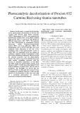 Photocatalytic decolorization of Procion 032 Carmine Red using titania nanotubes
