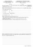 Đề thi học kì 2 môn Hóa học 11 năm 2017-2018 có đáp án - Trường THPT Nguyễn Trãi - Mã đề 485 (Khối A)