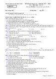 Đề thi học kì 2 môn Hóa học 11 năm 2017-2018 - Trường THPT Nguyễn Đình Chiểu - Mã đề 357