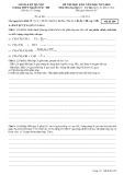 Đề thi học kì 2 môn Hóa học 11 năm 2017-2018 có đáp án - Trường THPT Nguyễn Trãi - Mã đề 209 (Khối A)