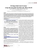Sử dụng thuật toán K-means trong bài toán phân loại đám mây điểm LiDAR