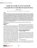 Nghiên cứu xác định các cấu tử của tinh dầu vỏ quả phật thủ ở các thời điểm thu hoạch khác nhau