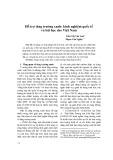 Hỗ trợ tăng trưởng xanh: kinh nghiệm quốc tế và bài học cho Việt Nam - Phạm Văn Nghĩa