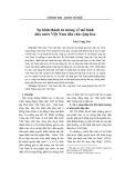Sự hình thành tư tưởng về mô hình nhà nước Việt Nam dân chủ cộng hòa - Trần Trọng Thơ