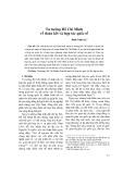 Tư tưởng Hồ Chí Minh về đoàn kết và hợp tác quốc tế - Đinh Xuân Lý