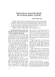 Chính sách của vương triều Nguyễn đối với dân tộc Khmer ở Nam Bộ - Nguyễn Minh Tường