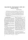 Quan hệ Đại Việt - Chiêm Thành thời Lý (1009 - 1225) thư tịch cổ Việt Nam - Nguyễn Thị Thu Thủy