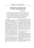 Vị thành niên và thanh niên Hà Nội: về sức khỏe sinh sản tiền hôn nhân - Đoàn Kim Thắng