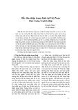 Bẫy thu nhập trung bình tại Việt Nam thực trạng và giải pháp - Lê Hà Thanh