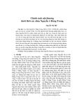 Chính sách nội thương dưới thời các chúa Nguyễn ở Đàng Trong - Nguyễn Thị Hải