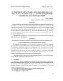 Sự phụ thuộc của tín hiệu sóng điều hòa bậc cao và xác suất ion hóa của + H2 vào góc định phương khi xét đến dao động hạt nhân - Trần Ái Nhân, Trần Tuấn Anh, Phan Thị Ngọc Loan