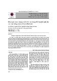 Đánh giá hàm lượng chất hữu cơ trong đất basalt canh tác các cây trồng chính ở tỉnh Đắk Lắk