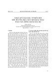 Nhận xét ban đầu về biến đổi môi trường địa chất khi khai thác than nâu đồng bằng Bắc Bộ