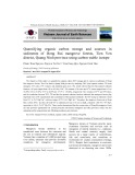Quantifying organic carbon storage and sources in sediments of Dong Rui mangrove forests, Tien Yen district, Quang Ninh province using carbon stable isotope