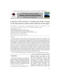Continuous GPS network in Vietnam and results of study on the total electron content in the South East Asian region