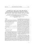 Nghiên cứu bồi lắng lòng hồ Trị An bằng phương pháp phân tích hạt nhân, địa chất kết hợp với hệ thông tin địa lý (GIS)