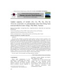 Uptake capacity of metals (Al, Cu, Pb, Sn, Zn) by Vetiveria zizanioides in contaminated water from Dong Xam metal production trade village, Thai Binh, Vietnam