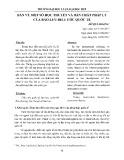Bàn về một số học thuyết và bản chất pháp lý của bảo lưu điều ước quốc tế