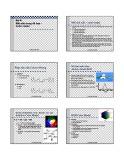 Bài giảng Đồ họa máy tính: Bài 6 - Lê Tấn Hùng