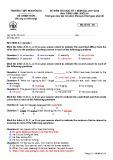 Đề thi học kì 1 môn Tiếng Anh 10 năm 2017-2018 có đáp án - Trường THPT Nguyễn Du - Mã đề 101