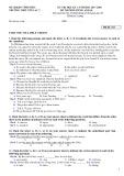 Đề thi học kì 1 môn Tiếng Anh 10 năm 2017-2018 có đáp án - Trường THPT Yên Lạc 2 - Mã đề 153