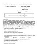Đề thi học kì 1 môn Tiếng Anh 10 năm 2017-2018 có đáp án - Trường THCS&THPT Võ Nguyên Giáp - Đề số 2