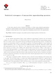 Statistical convergence of max-product approximating operators