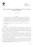 Relative nullity foliations and lightlike hypersurfaces in indefinite Kenmotsu manifolds