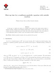 Blow-up time for a semilinear parabolic equation with variable reaction