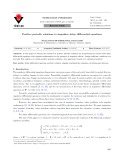 Positive periodic solutions to impulsive delay differential equations