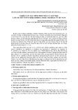 Nghiên cứu đặc điểm hình thái và giải phẫu loài Hà thủ ô đỏ (fallopia multiflora (thunb.) haraldson) ở Việt Nam