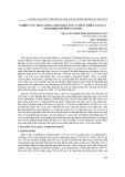 Nghiên cứu nhân giống nhằm bảo tồn và phát triển lan sứa (Anoectochilus lylei rolfe ex downie)