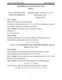 Bộ 5 đề thi học kỳ 1 môn Hoá học lớp 8