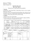 Đề thi học kì 2 môn Vật lí 8  năm 2017-2018 có đáp án - Trường THCS Bình Giang
