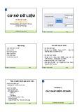 Bài giảng Cơ sở dữ liệu: Chương 1 - ThS. Trịnh Thị Xuân