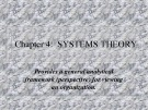 Lecture Business and industrial communication - Chapter 4: Systems theory