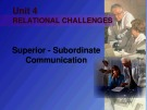 Lecture Business and industrial communication - Chapter 10: Superior - Subordinate communication