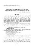 Nghiên cứu sự phát triển chiều cao của học sinh  trường tiểu học Ngự Bình thành phố Huế khoá 1998 - 2003
