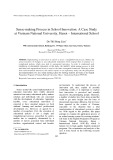 Sense-making process in school innovation: A case studyat Vietnam national university, Hanoi – International school