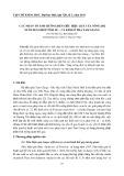 Các nhân tố ảnh hưởng đến siêu hiệu quả của nông hộ nuôi xen ghép tôm sú – cá kình ở phá Tam Giang - Tôn Nữ Hải Âu
